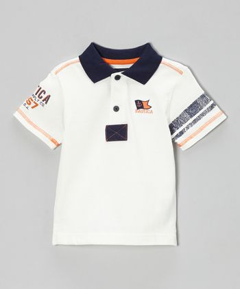 Cream Jersey Polo - Boys