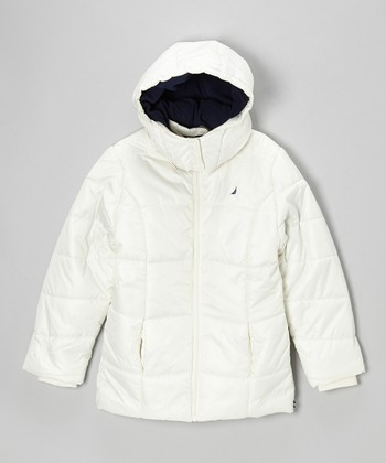 Natural Puffer Coat - Girls