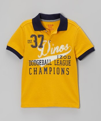 Gold 'Dodgeball League' Piqué Polo - Boys