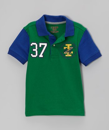 Green & Blue '37' Polo - Boys