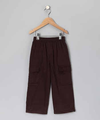 Brown Corduroy Cargo Pants - Infant, Toddler & Boys