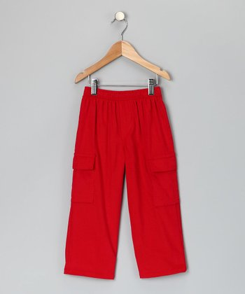 Red Corduroy Cargo Pant - Toddler & Boys