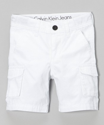 White Cargo Shorts - Infant & Toddler