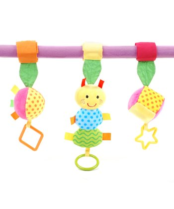 Stroller Activity Clip & Caterpillar Ring o' Lings Rattle Set