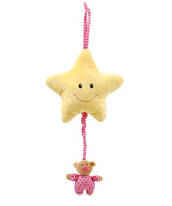 Pink Star Musical Pull Toy