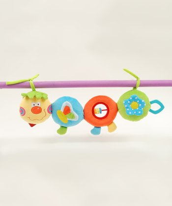 Blue Caterpillar Stroller & Crib Activity Toy/Teether