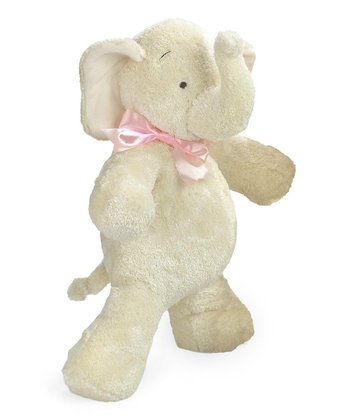 Pink Bow Smushy™ Elephant Plush Toy
