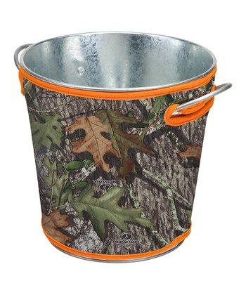 Occasionally Made Orange & Mossy Oak Covered Bucket
