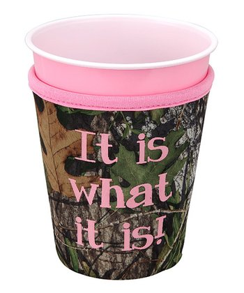 Occasionally Made 'It Is What It Is!' Mossy Oak Cup Cozy
