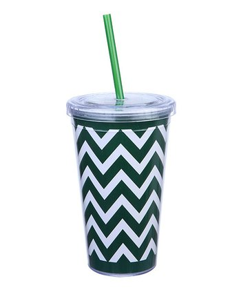 Green & White Sipper Cup