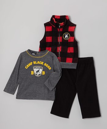 Red Buffalo Check Vest Set - Infant & Toddler