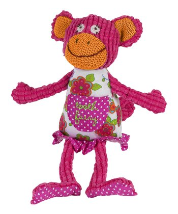 Pink 'Tooth Fairy' Funny Monkey Plush Toy
