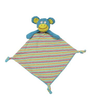 Blue Stripe Funny Monkey Lovey