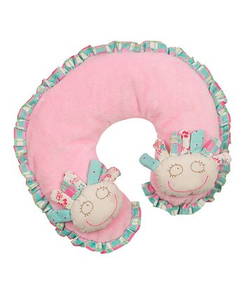 Pink & Blue Chelsea Wacky Doll Neck Pillow