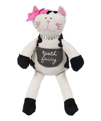 Black & Cream 'Tooth Fairy' Cat Plush Toy
