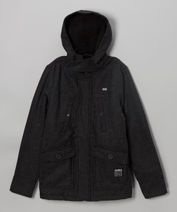 Black Leeds Wool-Blend Jacket - Boys