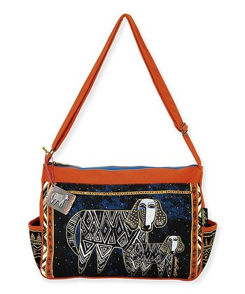 Blue Zigzag Dogs Shoulder Bag