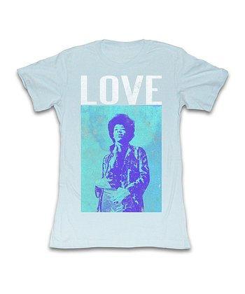 Light Blue 'Love' Jimi Hendrix Tee