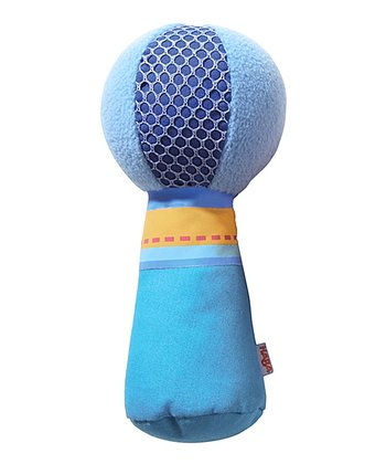 Blue Fabric Rattle