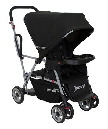 Black Caboose Ultralight Stand-On Tandem Stroller