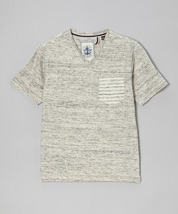 Off-White Heather Peter V-Neck Tee