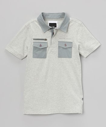 Heather Gray Myer Polo - Boys