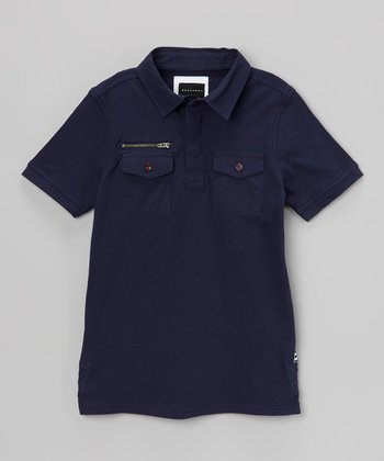 Navy Myer Polo - Infant, Toddler & Boys