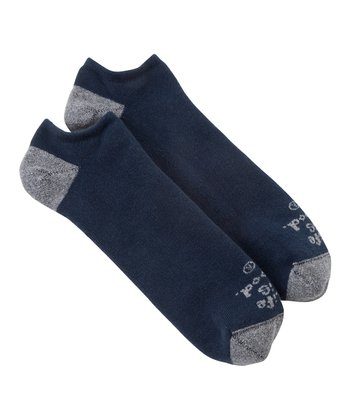 True Blue 'Life Is Good' No-Show Socks - Men