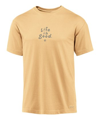 Classic Gold 'Life Is Good' Crusher Short-Sleeve Tee - Men