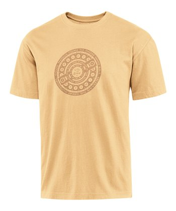 Classic Gold Reel In Creamy Tee - Men