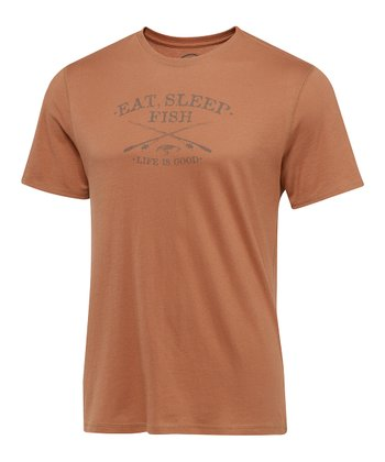 Copper Eat Sleep Fish Tee - Men