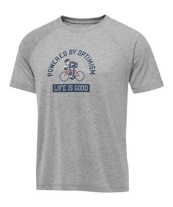 Heather Gray Jake Bike Vital Tee - Men