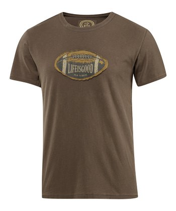 Dark Brown Old School Football Epic Tee - Men