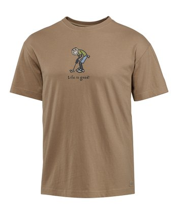 Simply Light Brown Jake Putt Crusher Short-Sleeve Tee - Men