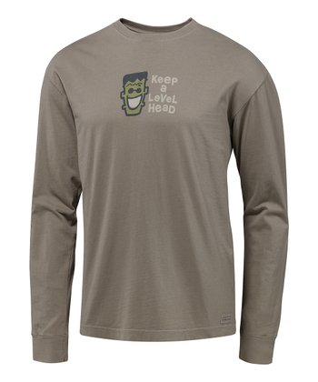 Warm Gray Level Head Crush Long-Sleeve Tee - Men