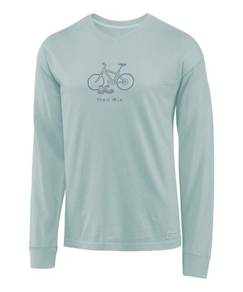 Foggy Blue Vee Trail Mix Crusher Long-Sleeve Tee - Men