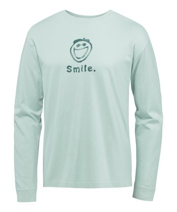 Foggy Blue Jake Smile Crusher Long-Sleeve Tee - Men
