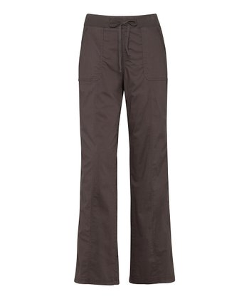 Dark Chocolate Drawstring Pants - Women