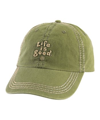 Dark Green 'Life Is Good' Essential Chill Baseball Hat - Men