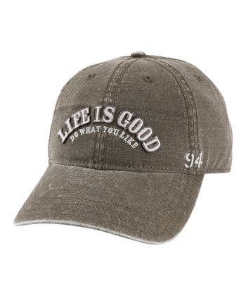 Warm Gray 'Life Is Good' Baseball Hat - Men