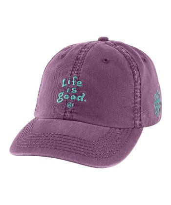 Plum 'Life Is Good' Essential Chill Baseball Hat - Women