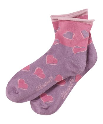 Plum Heart Mini Roll-Top Socks - Women