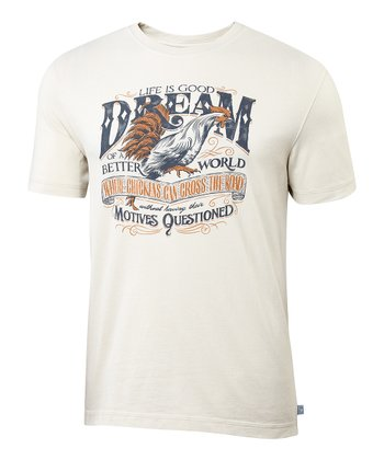 Sand White 'Dream' Creamy Tee - Men