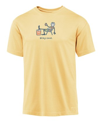 Hay Yellow 'Stay Cool' Crusher Tee - Men