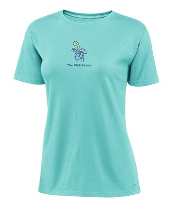 Tide Blue 'The Club Scene' Crusher Tee - Women