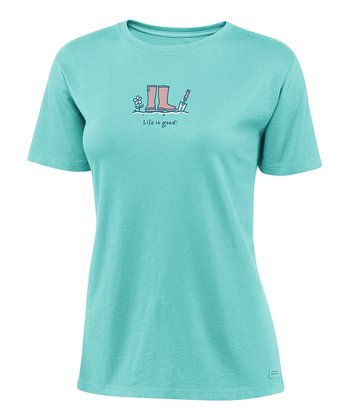 Tide Blue Trowel & Boots Crusher Tee - Women