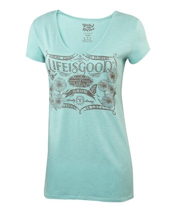 Tide Blue Topnotch Organic Tee - Women