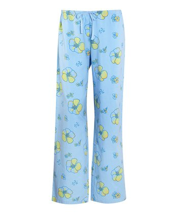 Sky Flower Pajama Pants - Women