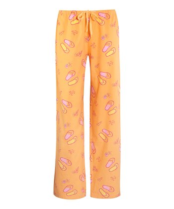 Tangerine Orange Flip-Flop Pajama Pants - Women