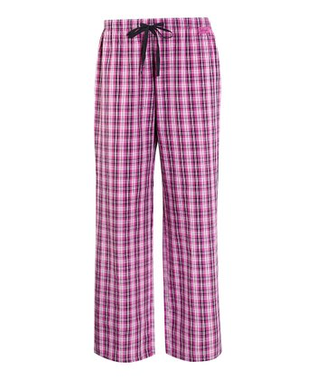 Hot Fuchsia Plaid Slumber Pajama Pants - Women
